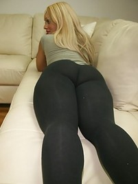 Spandex ass in big with girl a